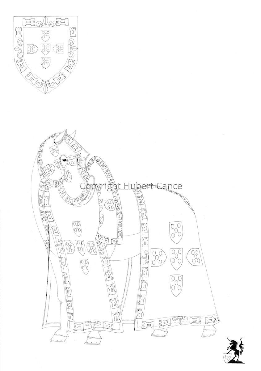 Armorial de la Toison d'Or: Roi de Portugal. HS. (Sketch) (large view)