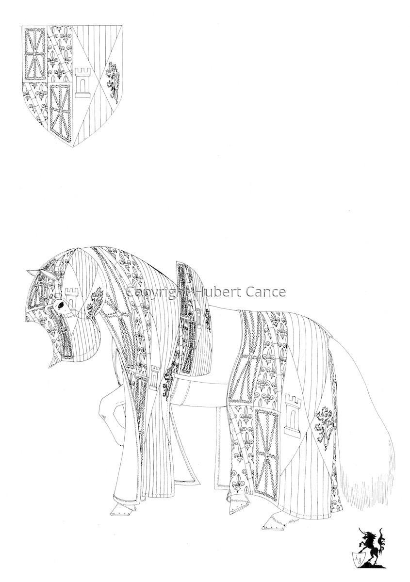 Armorial de la Toison d'Or: Roi de Navarre. HS. (Sketch) (large view)
