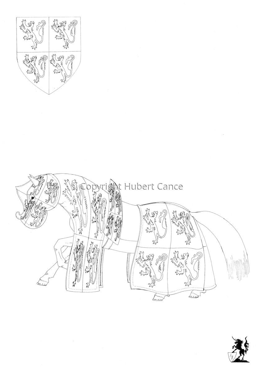 Armorial de la Toison d'Or: Comte de Hainaut (Sketch) (large view)