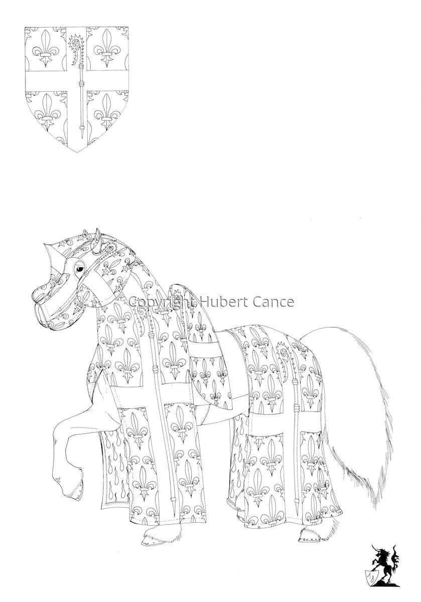 Armorial de la Toison d'Or: L'Evèque de Laon (Sketch) (large view)