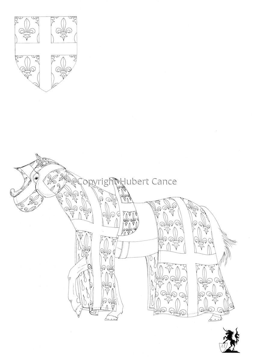 Armorial de la Toison d'Or: Evèque de Châlons (Sketch) (large view)