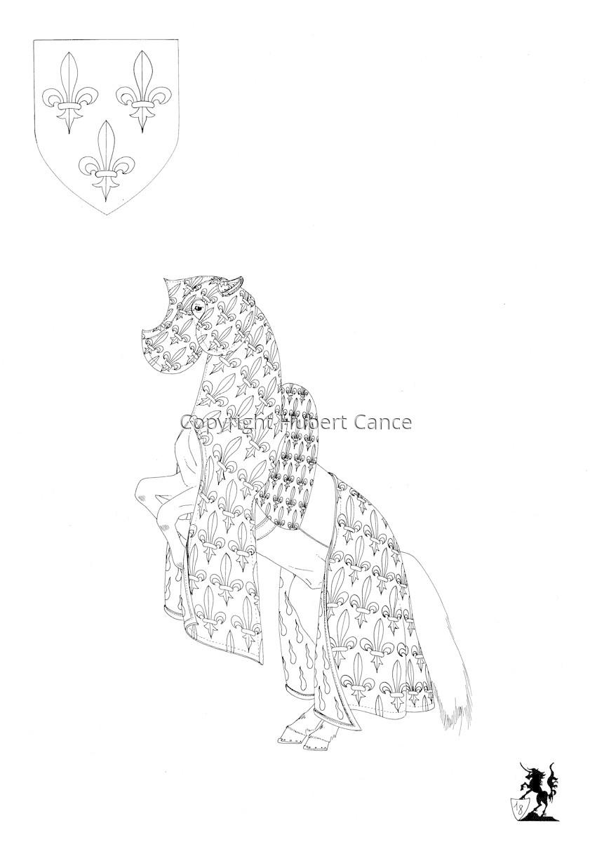 Armorial de la Toison d'Or: Roi de France.II (Sketch 2) (large view)