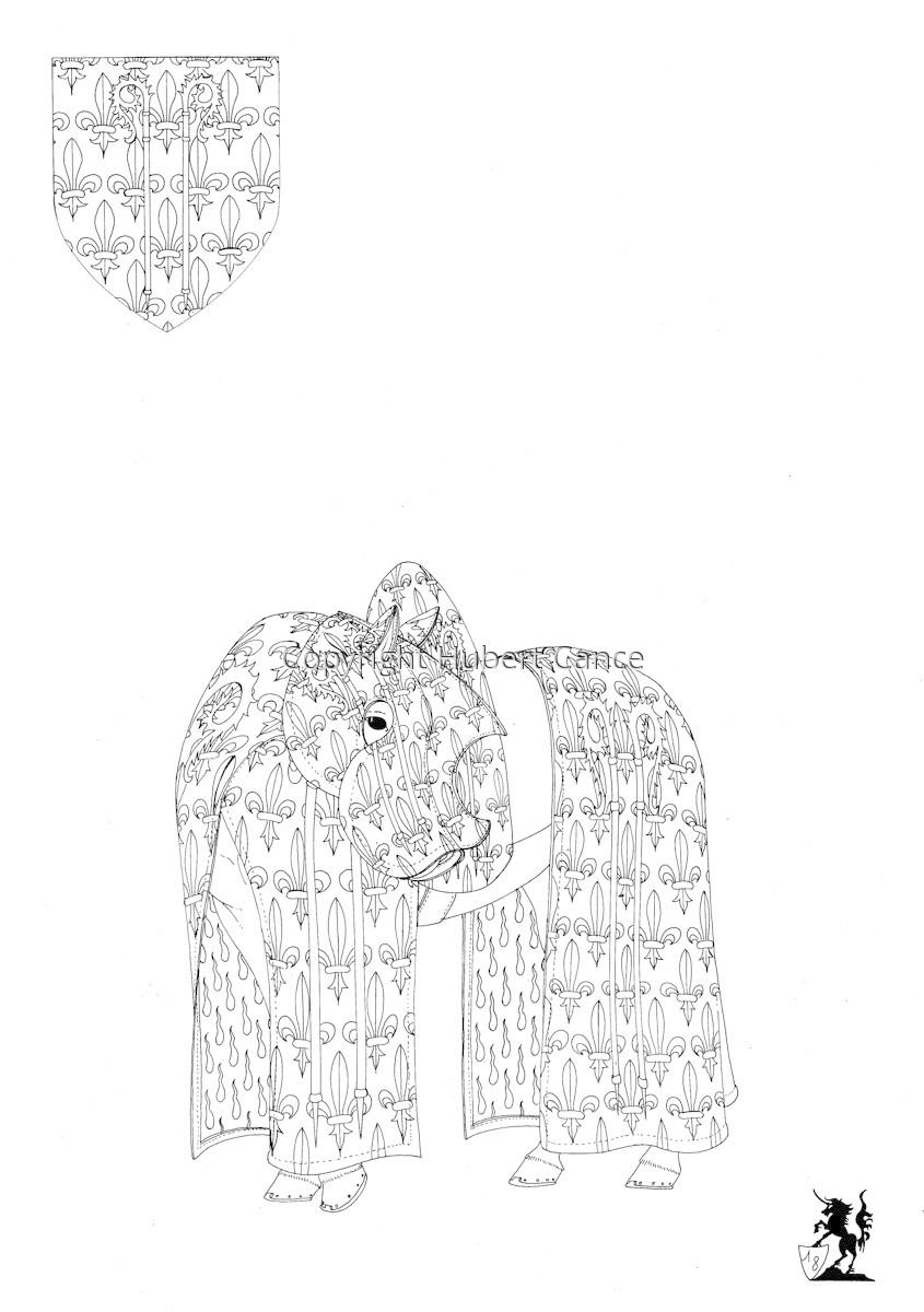 Armorial de la Toison d'Or: Evèque de Noyon (Sketch) (large view)