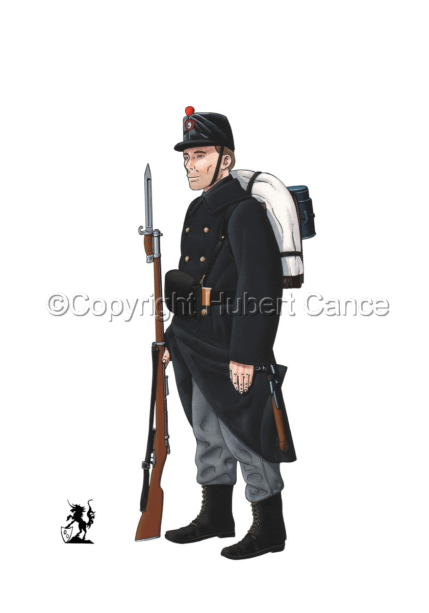 9eme Regiment d'Infanterie de Ligne (1914) (large view)