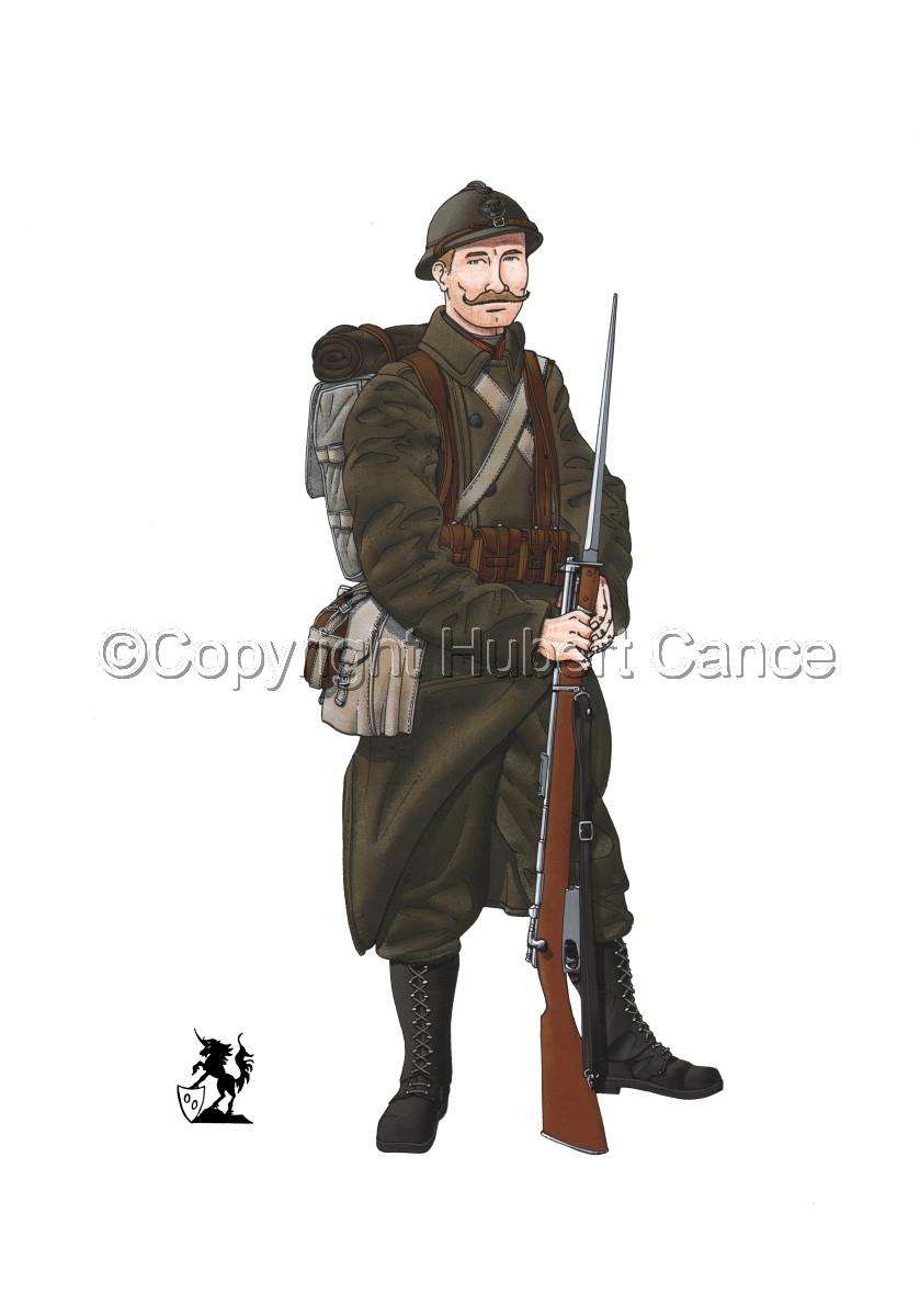 12eme Regiment de Ligne du Prince Leopold (1917) (large view)
