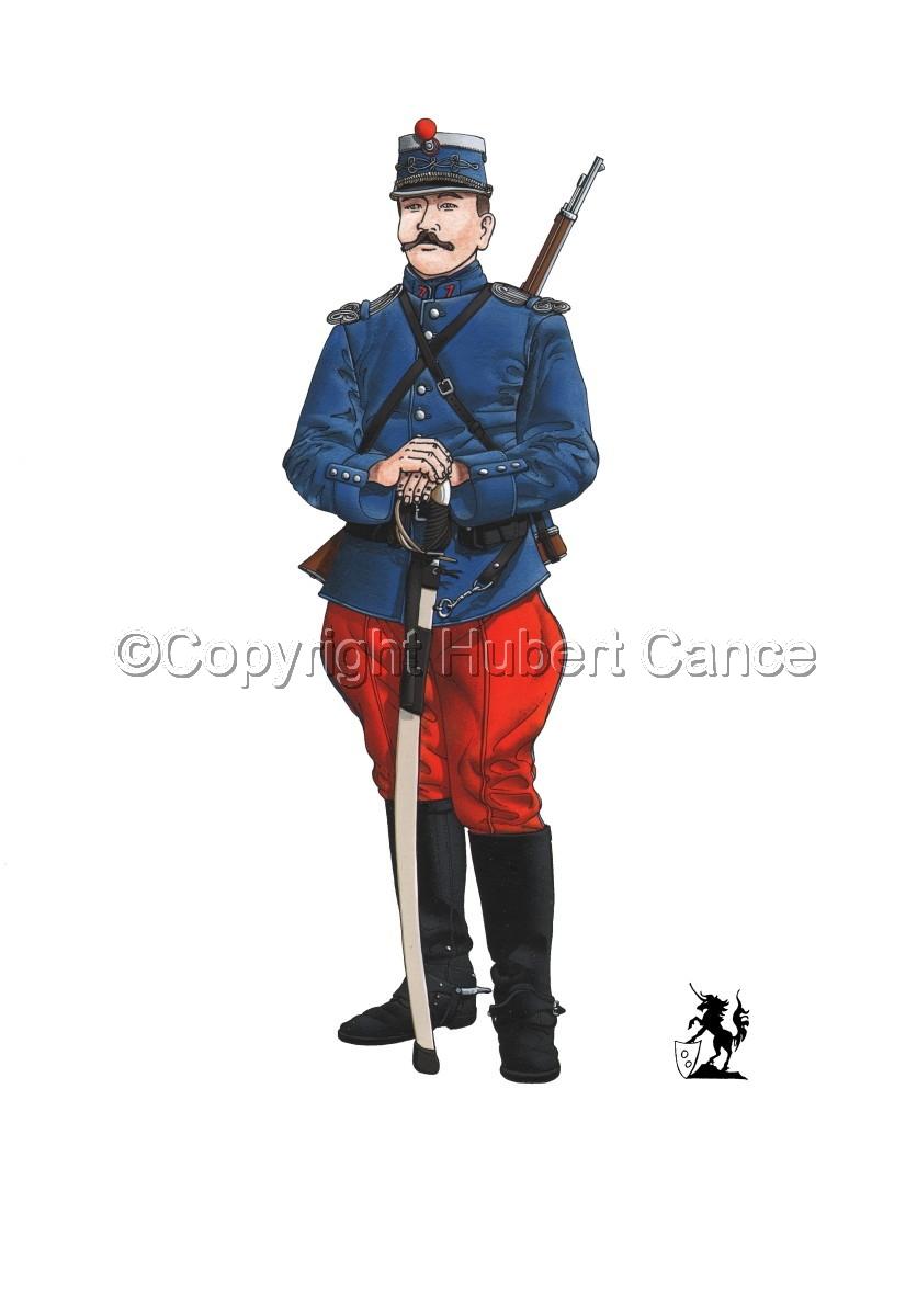 French Cavalryman, 7eme Regiment de Hussards, 1914 (large view)