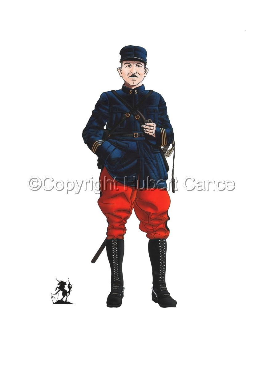 French, Capitaine, 5eme Regiment d'Infanterie (1914) (large view)