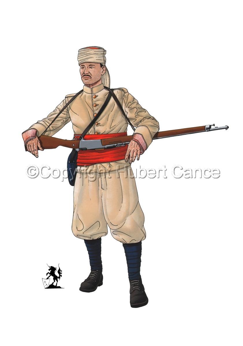 French Soldier, 1er Regiment de Tirailleurs Marocains (1914) (large view)