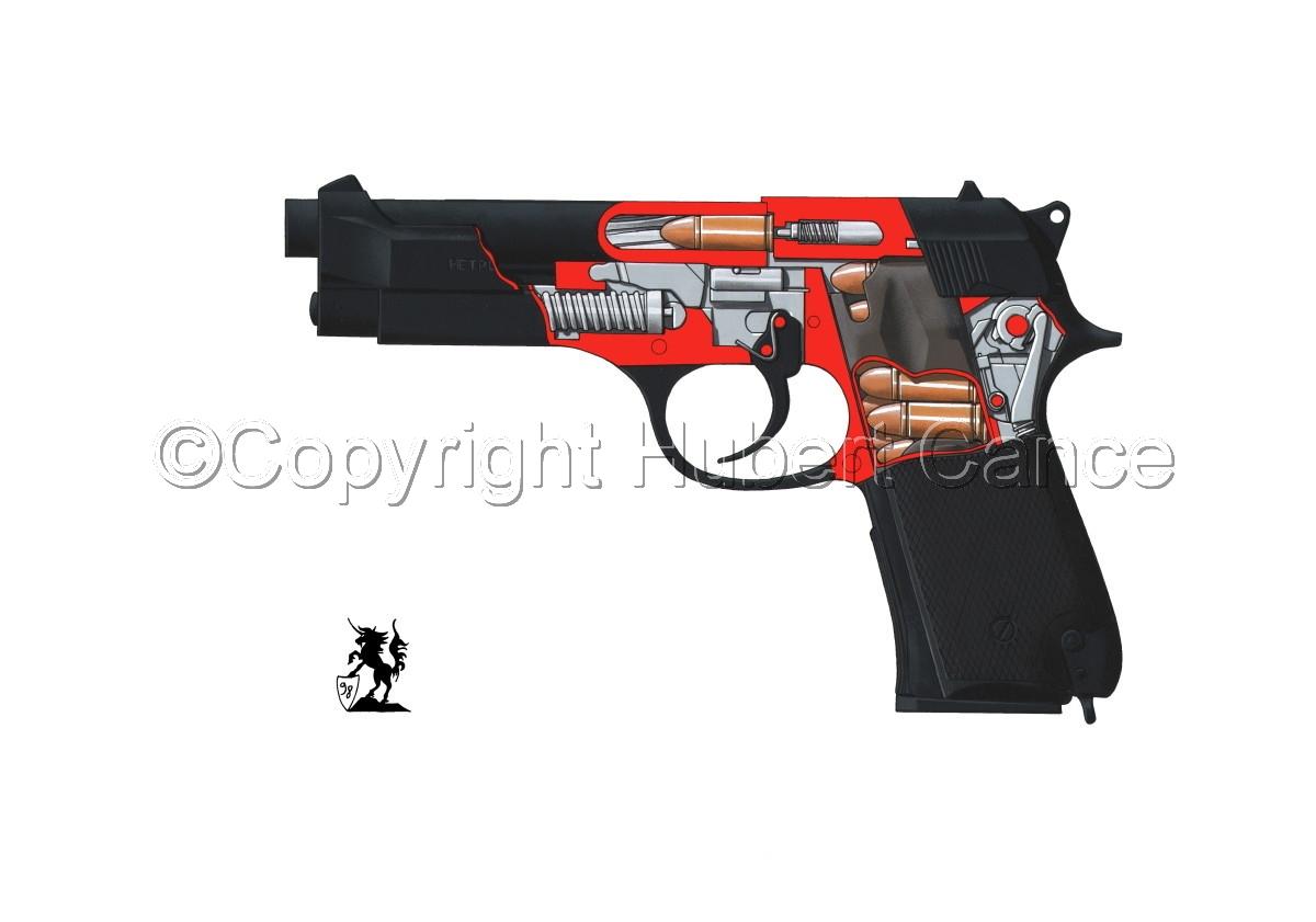 Beretta M9-92F (Cutaway #1) (large view)