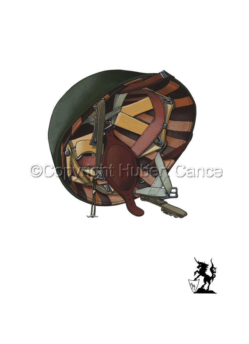 US M1C Paratroop helmet #1 (large view)