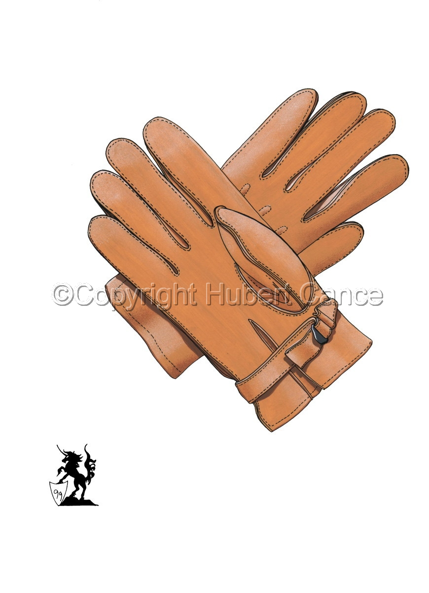 US Paratroop gloves, Horsehide, Riding unlined (WW2) #1 (large view)