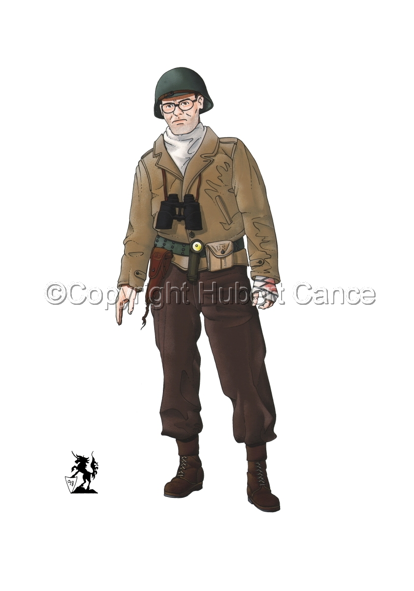 US Army Infantry Officer, Normandie, France (1944) (large view)