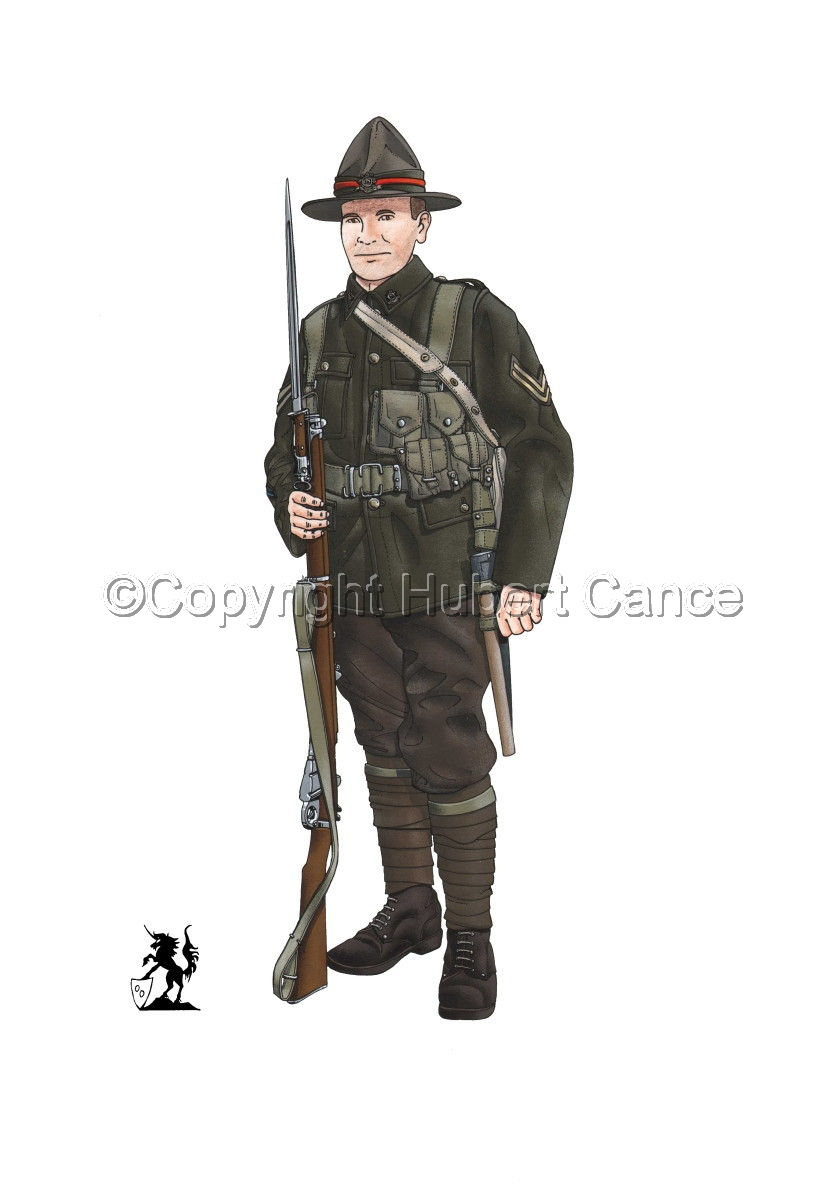 Corporal, 6th. (Hauraki) Infantry Regiment, New Zealand Rifles, France (1917) (large view)