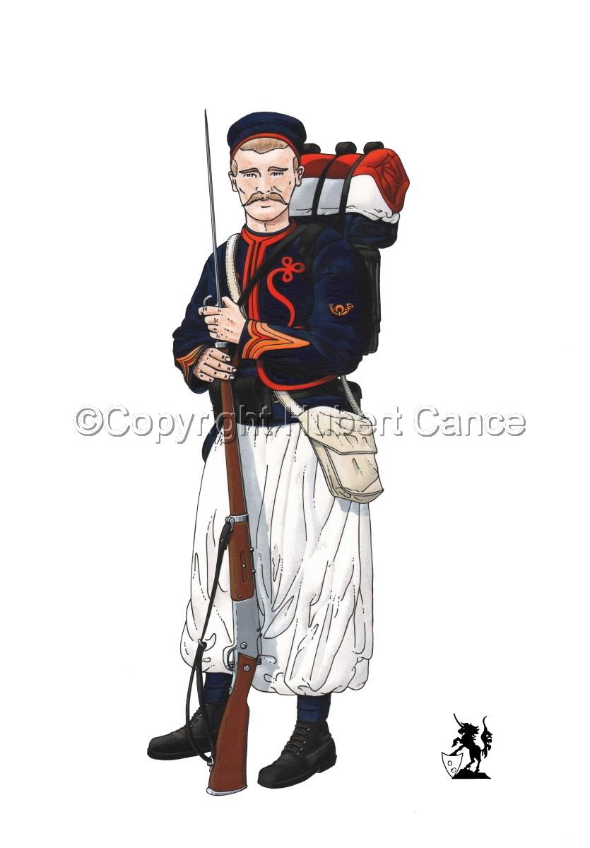 Sergent, rengage, 1er Regiment de Zouaves (1914) (large view)