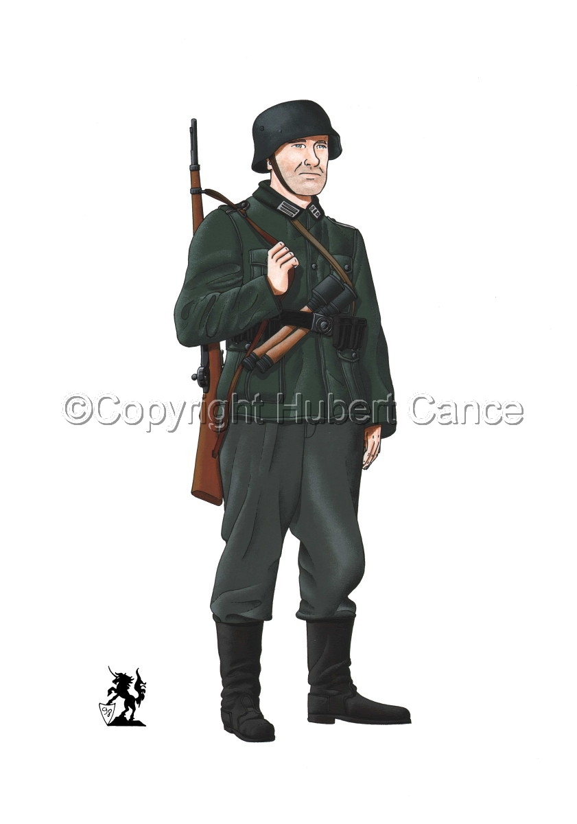 German Infantryman, WW2 (large view)