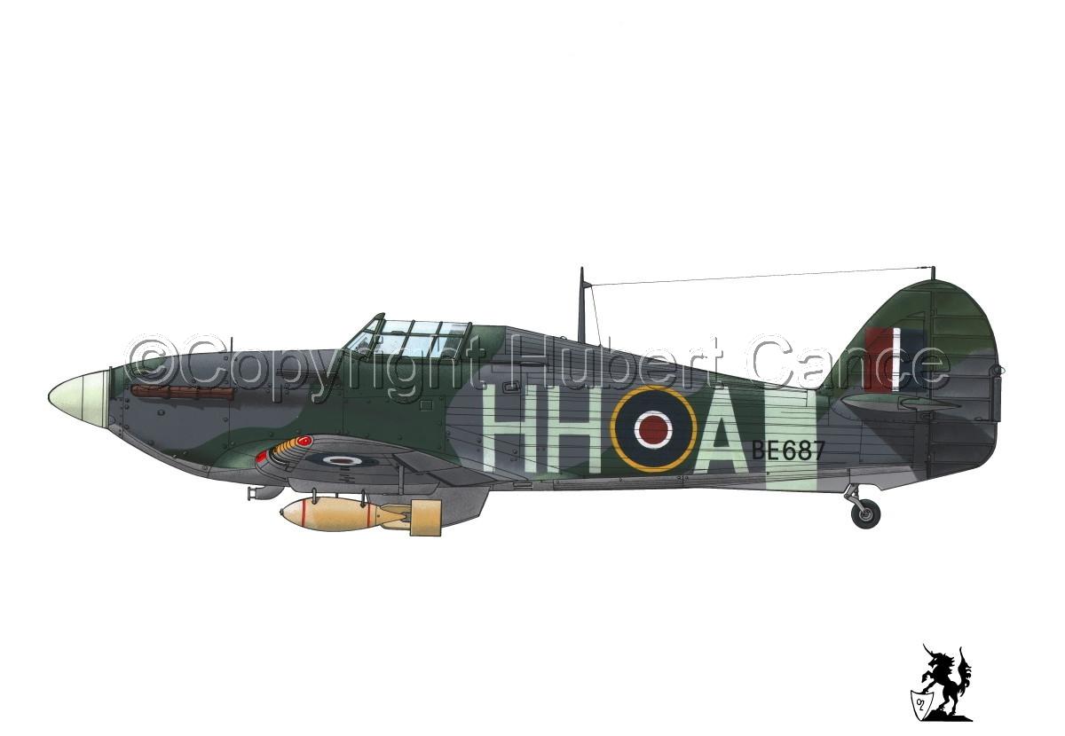 """Hawker """"Hurricane"""" Mk.IIb """"Hurribomber"""" #1bis.1 (large view)"""