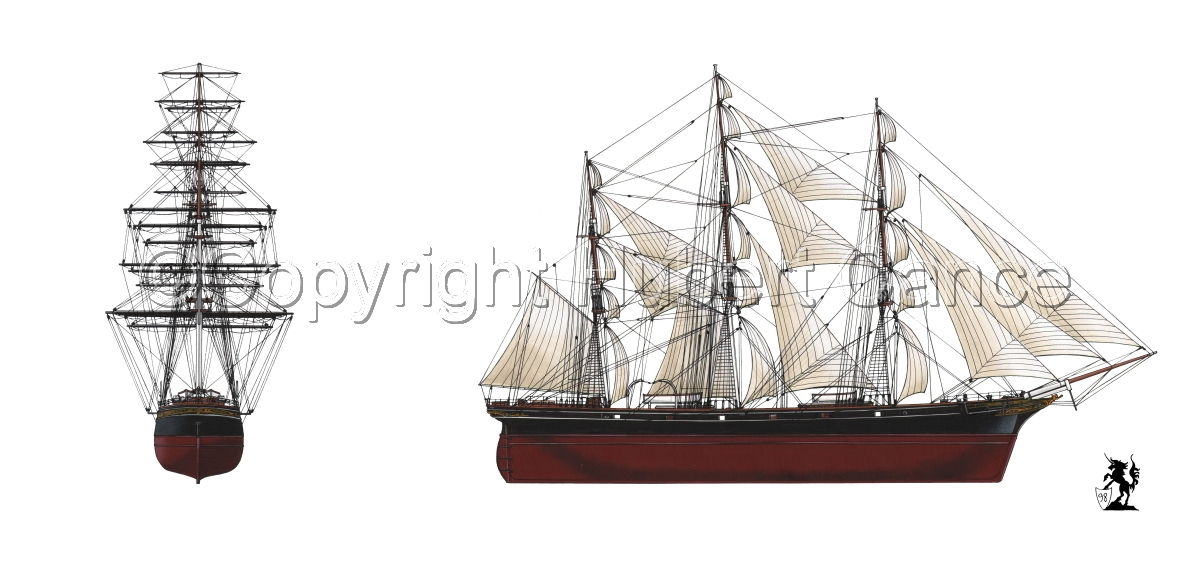 """""""Cutty Sark"""" 2-Views (large view)"""