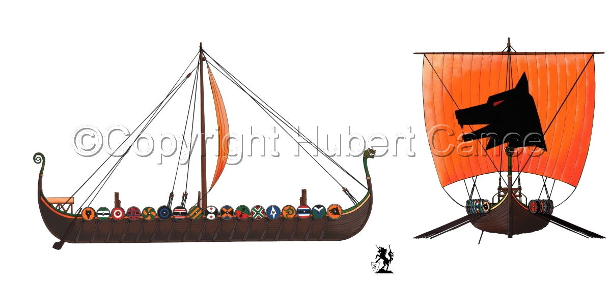 """Viking Drakkar"" 2-Views (large view)"