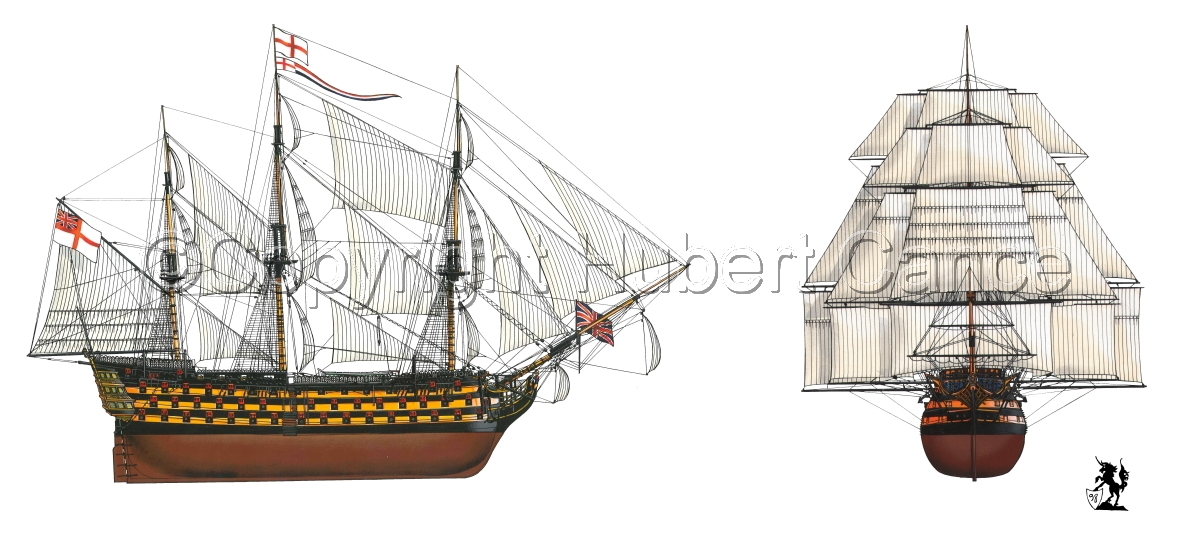 """HMS Victory"" 2-Views (large view)"