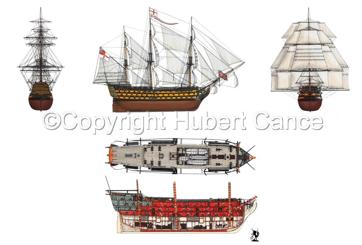 """HMS Victory"" 5-Views (large view)"