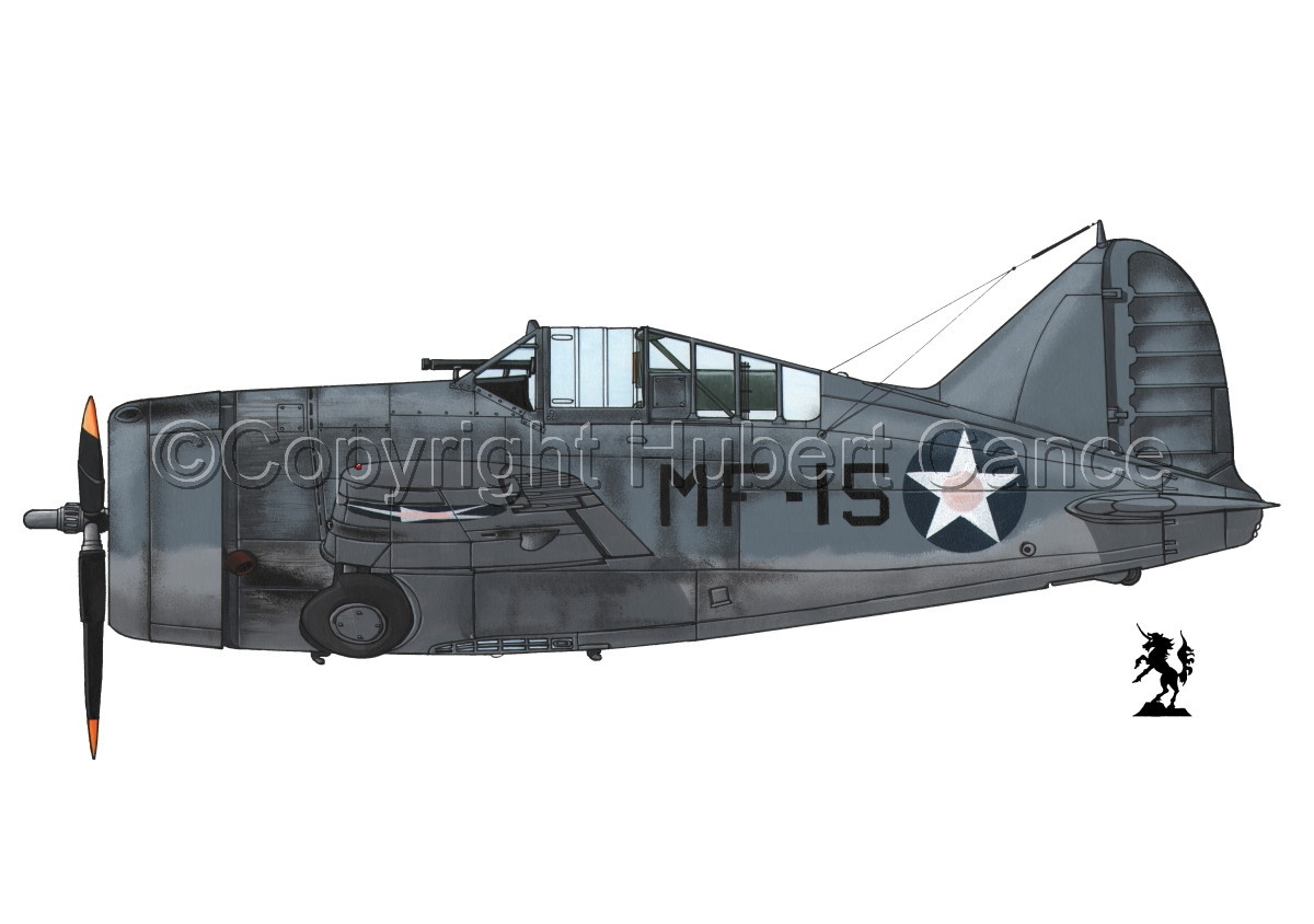 "Brewster F2A-3 ""Buffalo"" #1.1 (large view)"