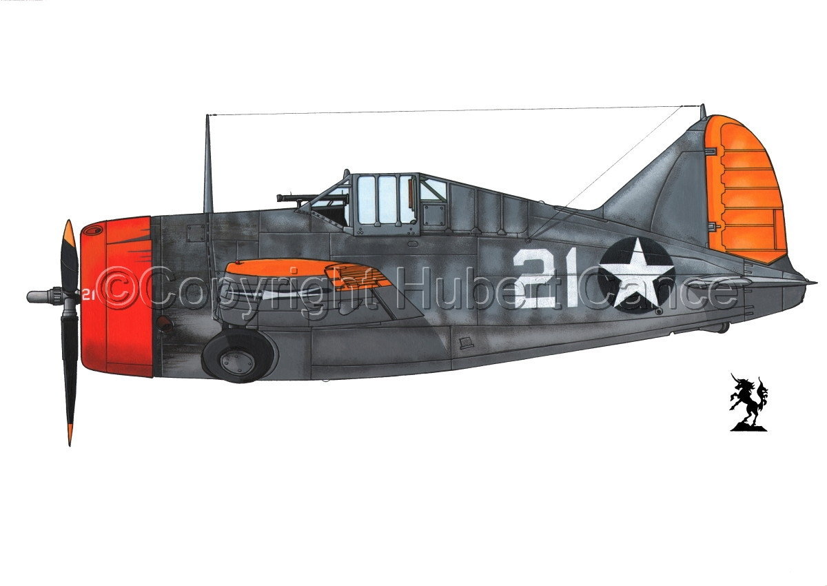 """Brewster F2A-3 """"Buffalo"""" #2.1 (large view)"""