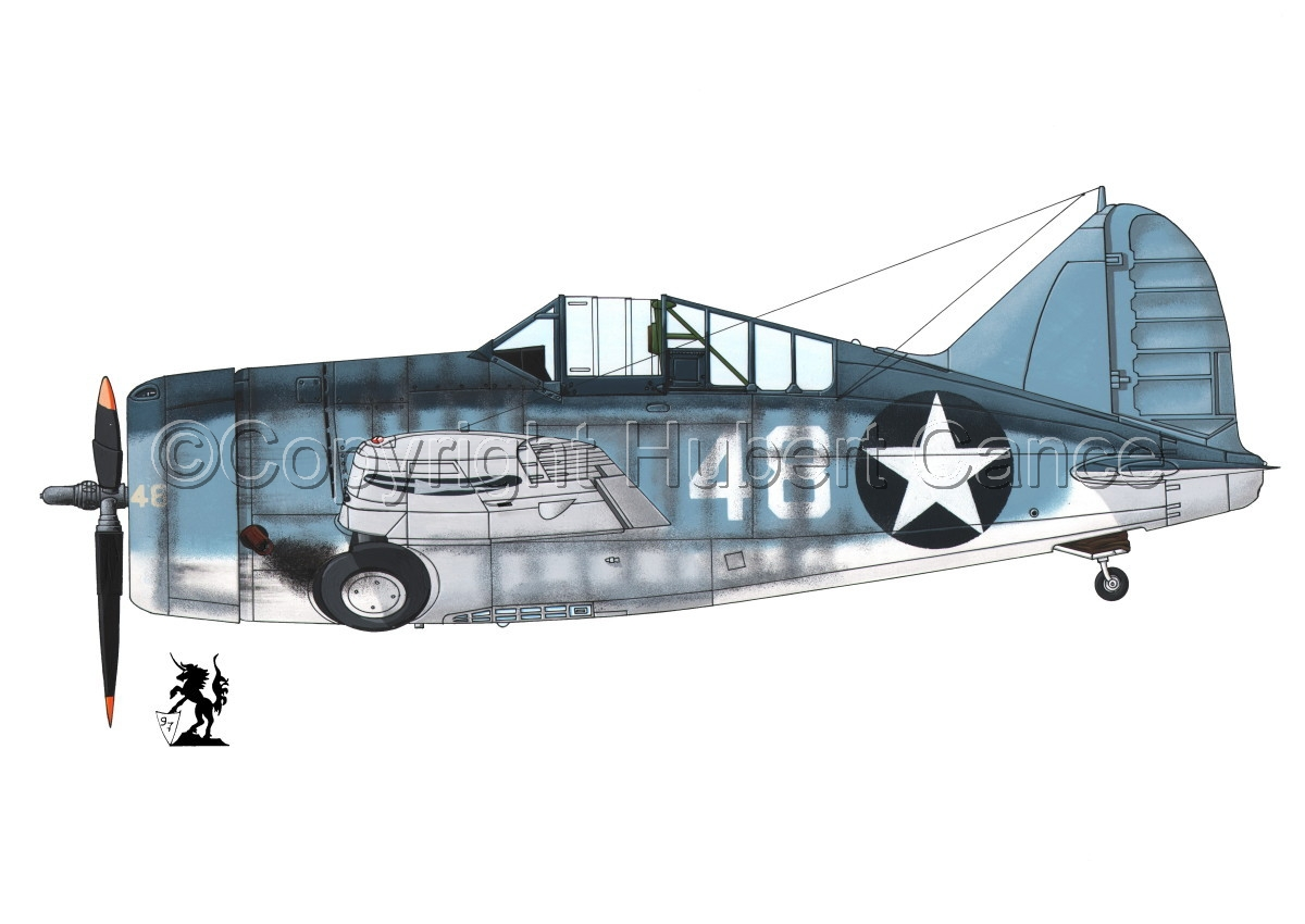 "Brewster F2A-3 ""Buffalo"" #3.1 (large view)"