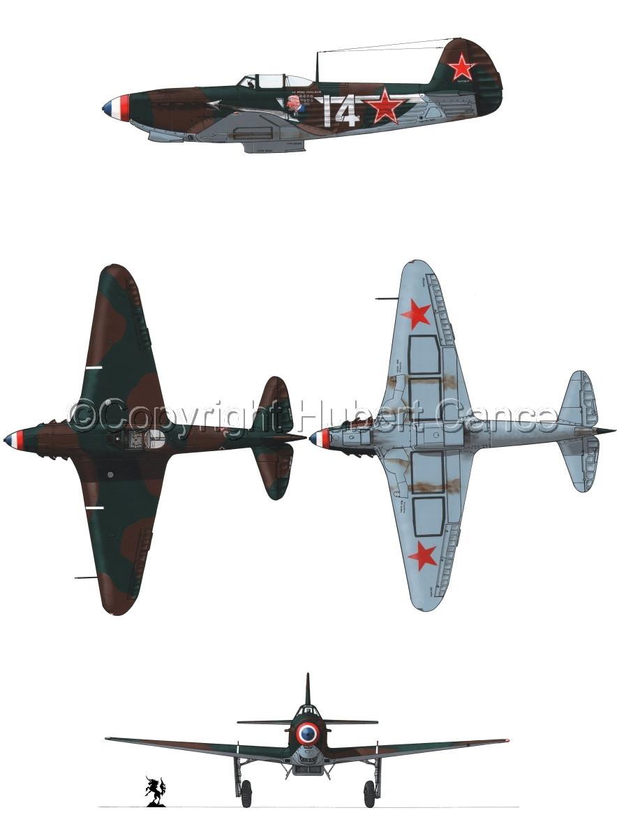 """Yakovlev Yak-9D"" 4-Views #1.1 (large view)"