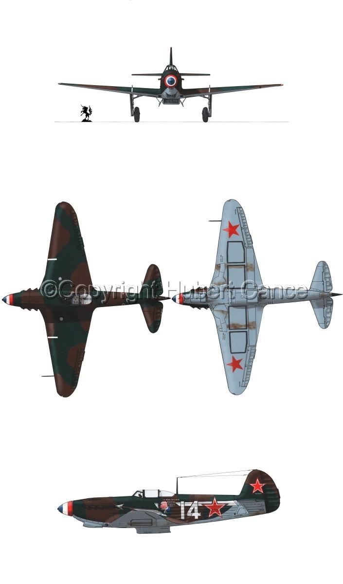 """Yakovlev Yak-9D"" 4-Views #2.1 (large view)"
