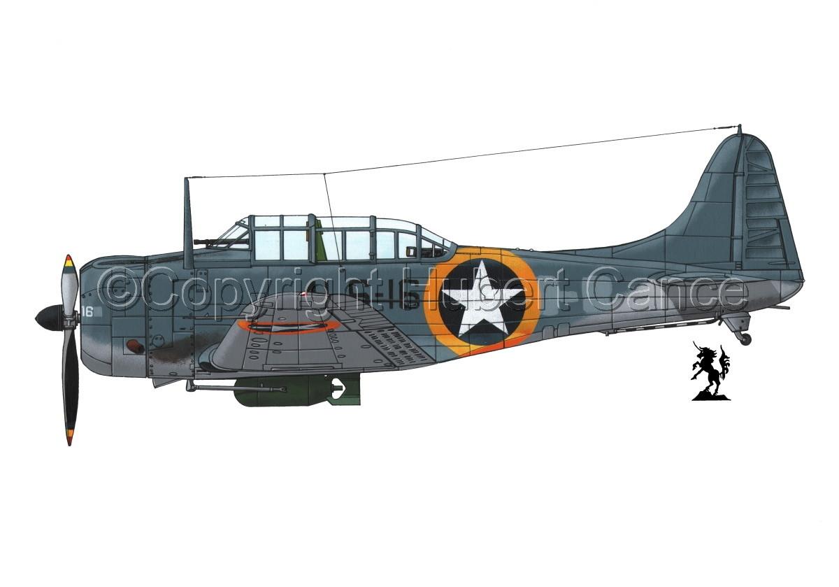"""Douglas SBD-3 """"Dauntless"""" #1.1 (large view)"""