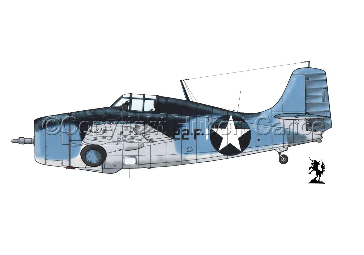 """Grumman F4F-4 """"Wildcat"""" #3.1 (large view)"""