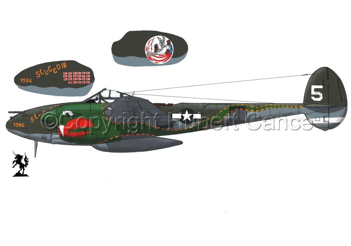 """Lockheed P-38J """"Lightning"""" #1.1 (large view)"""
