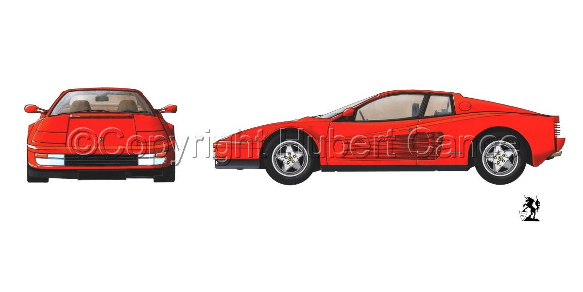 "Ferrari ""Testarossa"" 2-Views (large view)"