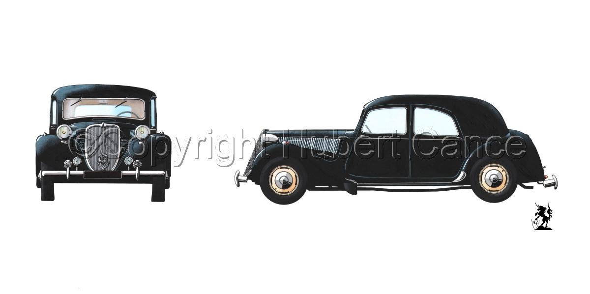"""Citroen """"Traction Avant"""" 2-Views (large view)"""