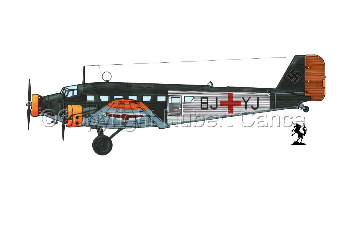 Junkers Ju 52/3m Sanitätsflugzeug #1.1 (large view)
