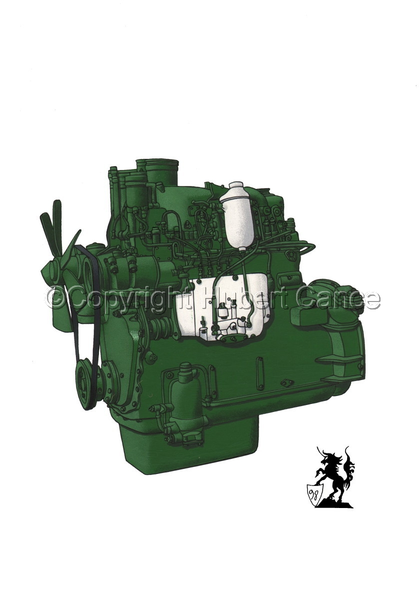 Berliet MDX14 Engine (large view)