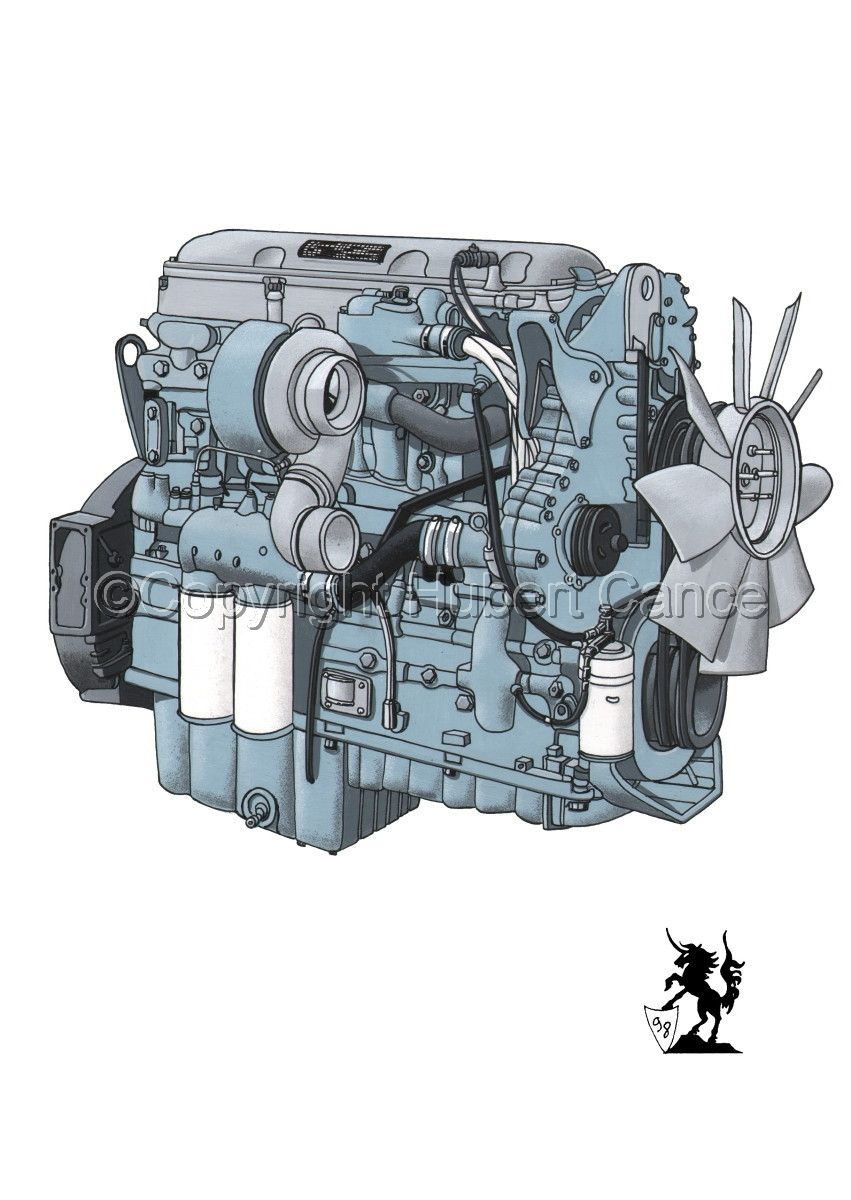Detroit Series 60 Diesel Engine (large view)