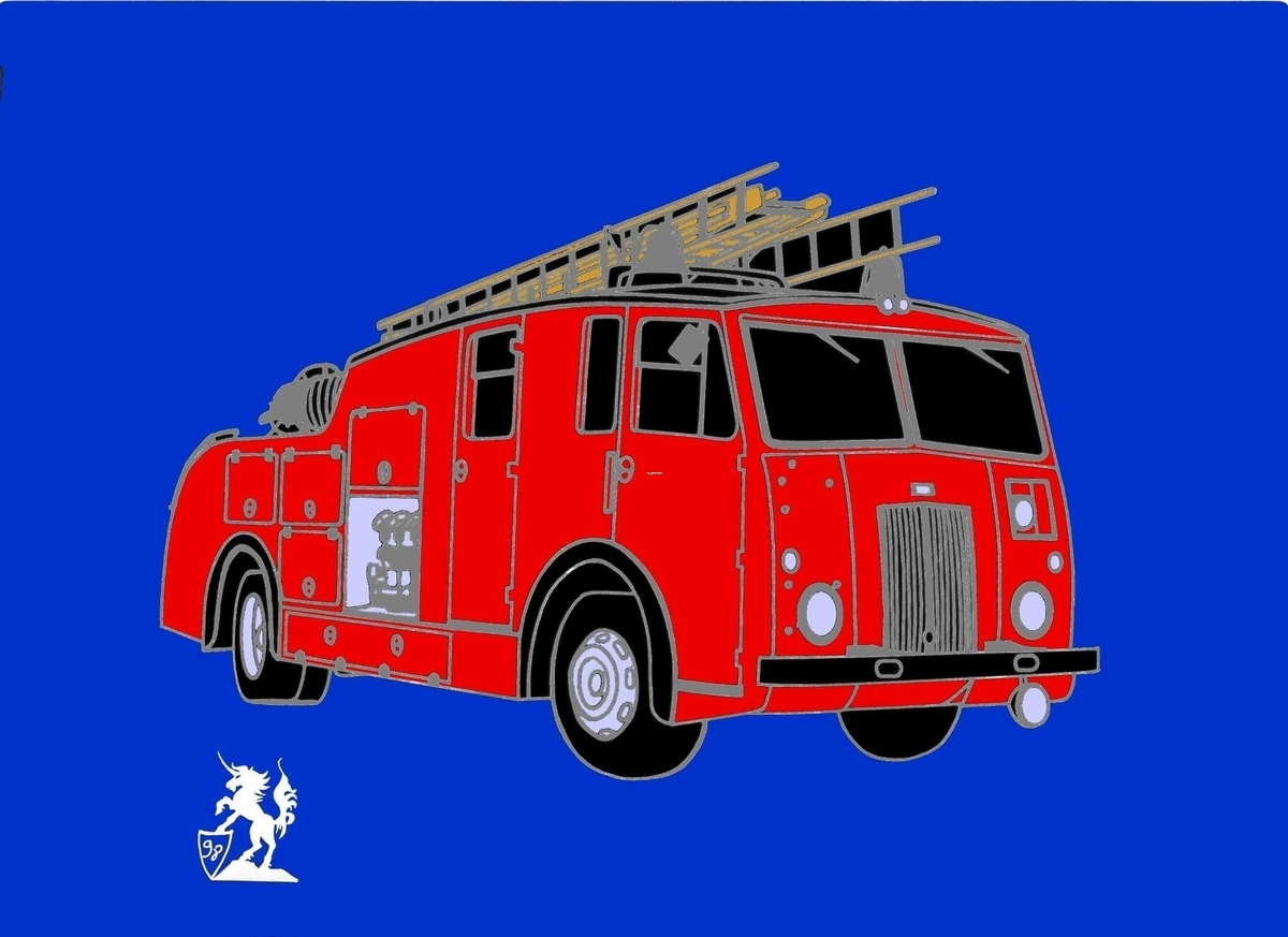 Dennis Fire Vehicle (Pin) (large view)
