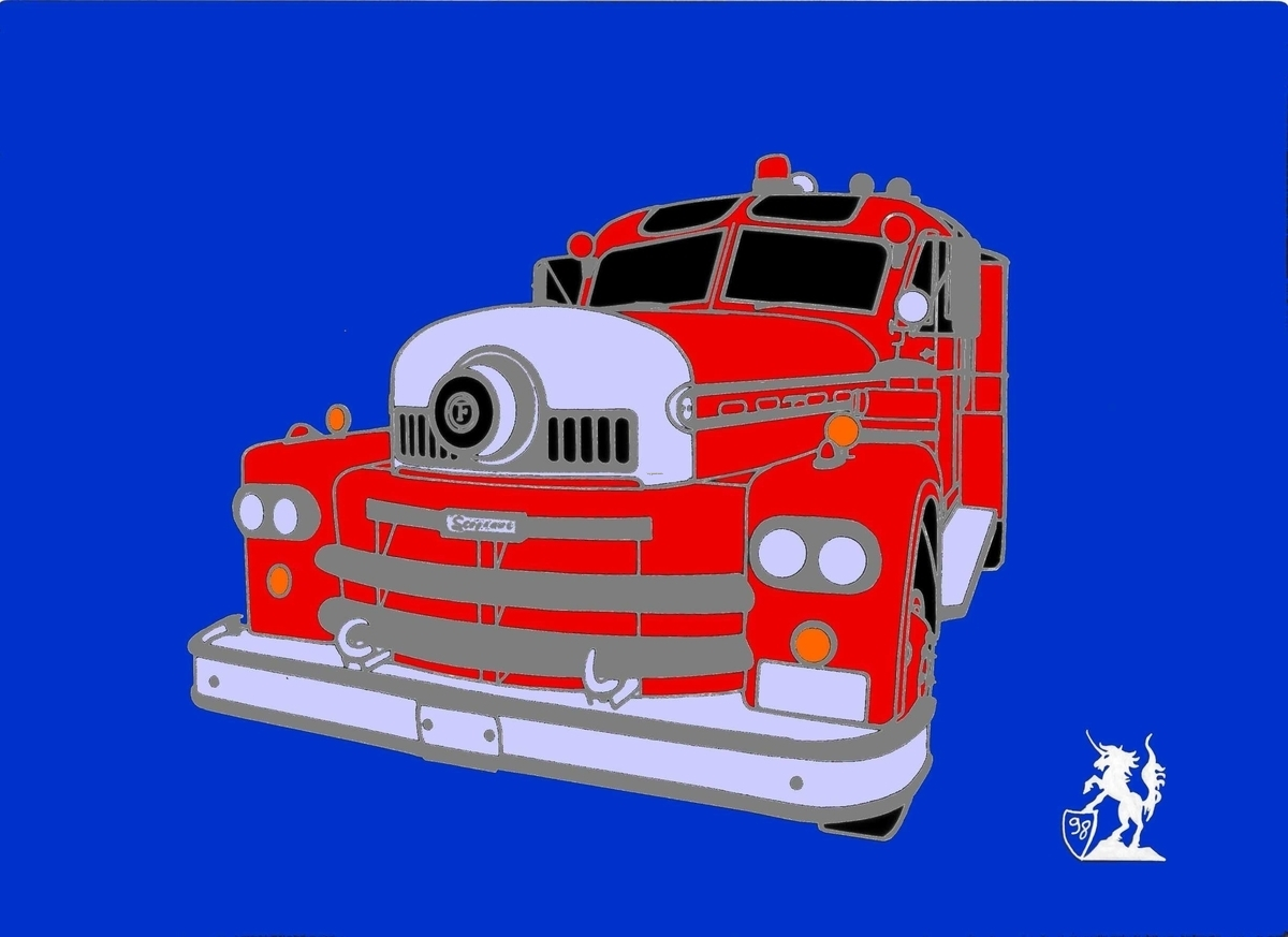 Seagrave Model 1958 Firetruck (Pin) (large view)