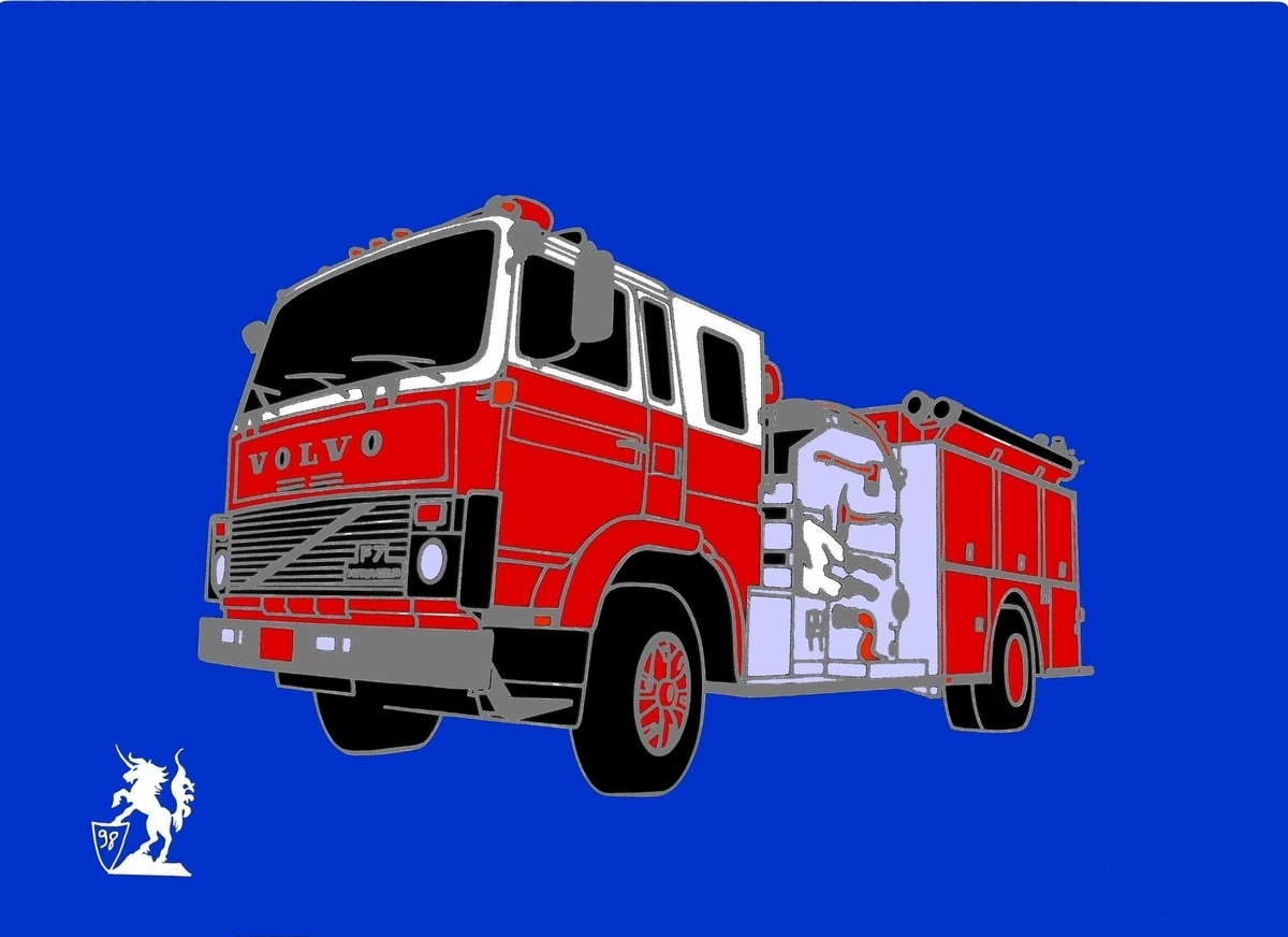 Volvo FL7 Fire Truck (Pin) (large view)