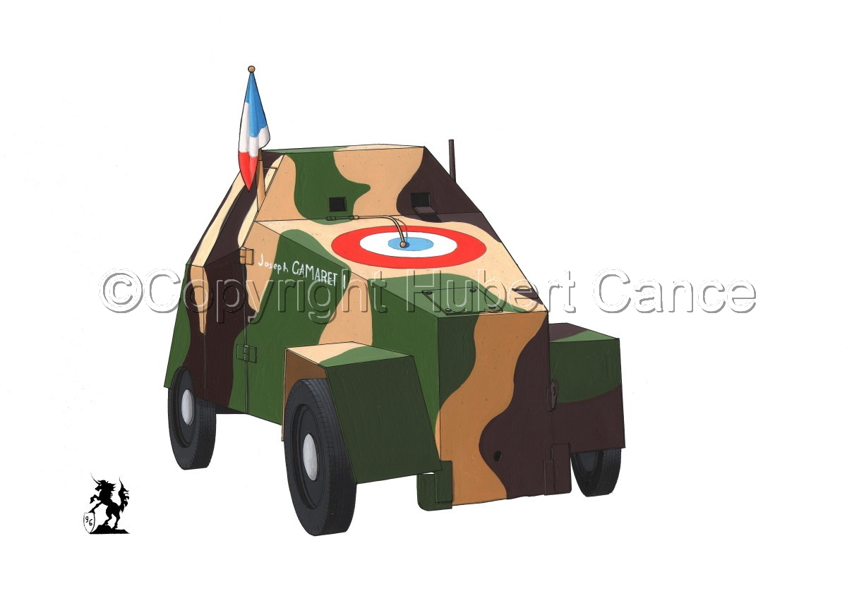 Simca 5 Blindee (Improvised Armored Car) (large view)