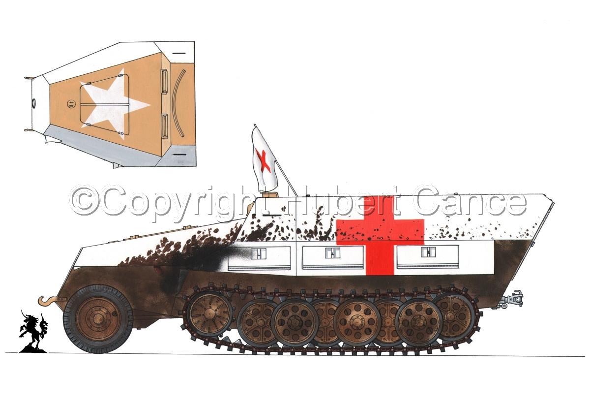 SdKfz.251/8 Ausf.D Mittlerer Krankenpanzerwagen #1.1 (large view)