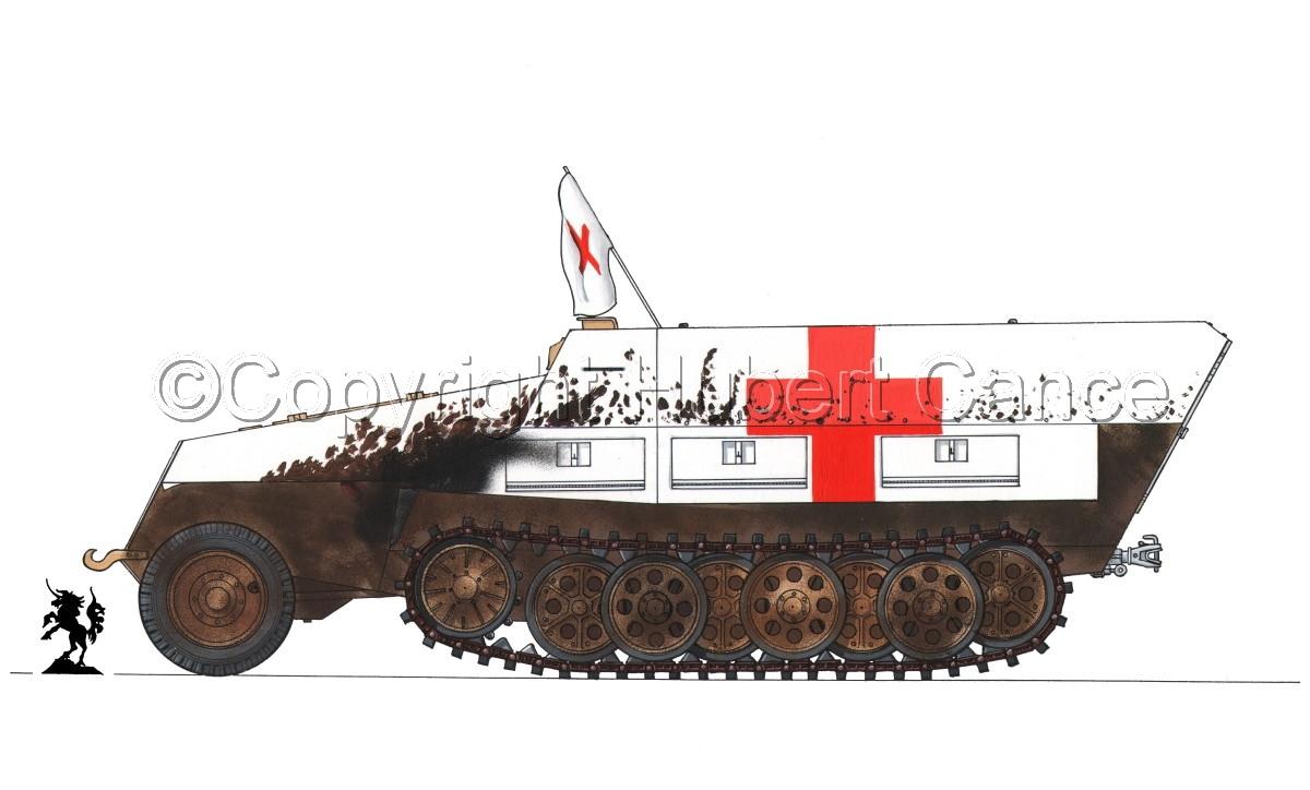 SdKfz.251/8 Ausf.D Mittlerer Krankenpanzerwagen #1.2 (large view)