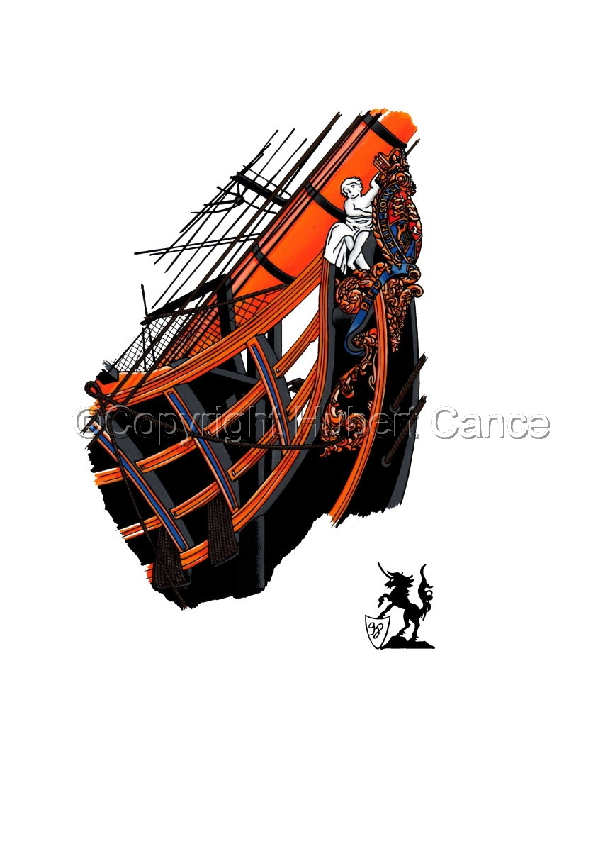 """""""HMS Victory"""" bow (large view)"""