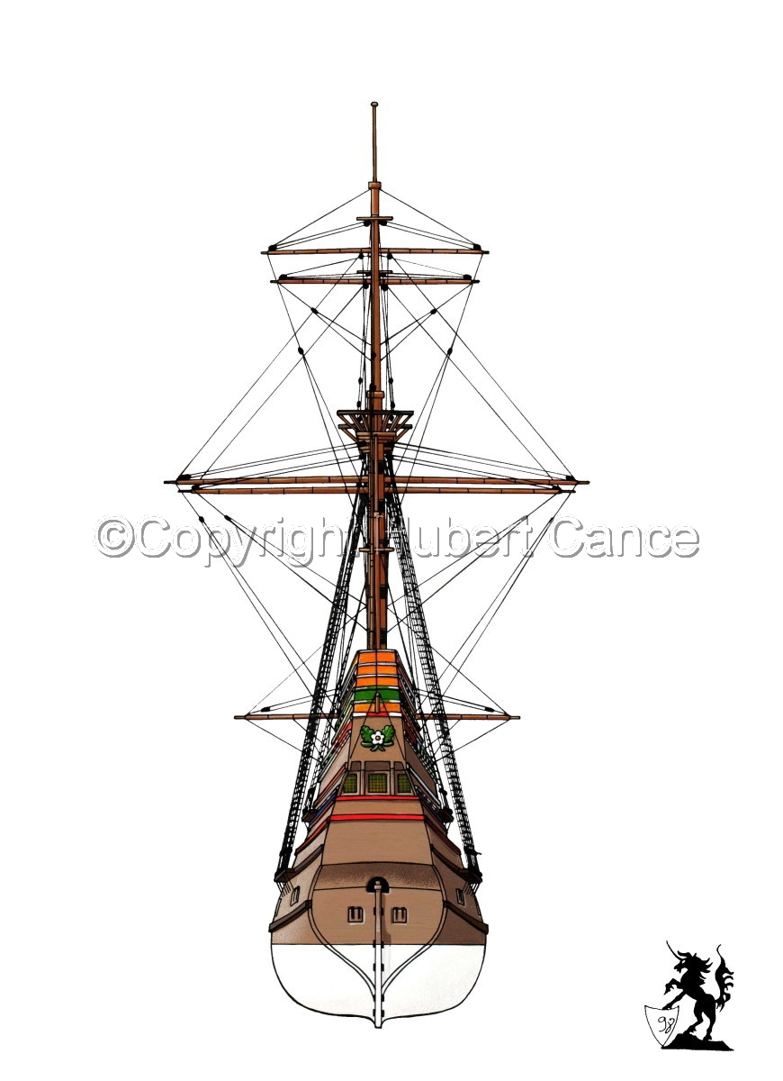 """""""Mayflower"""" from the stern (large view)"""