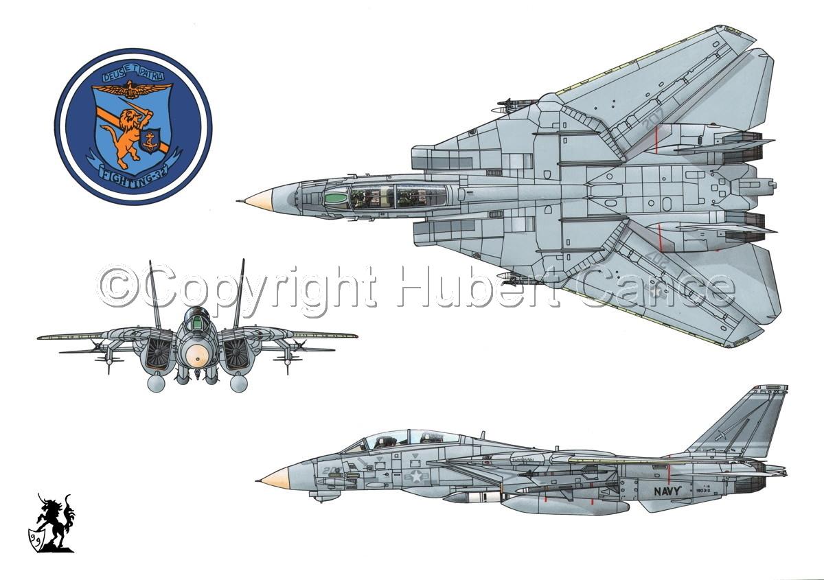 """Grumman F-14A """"Tomcat"""" #1 (large view)"""