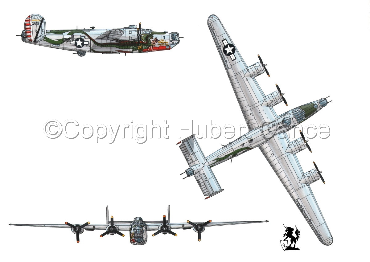 "Consolidated B-24J-190 ""Liberator"" #1 (large view)"