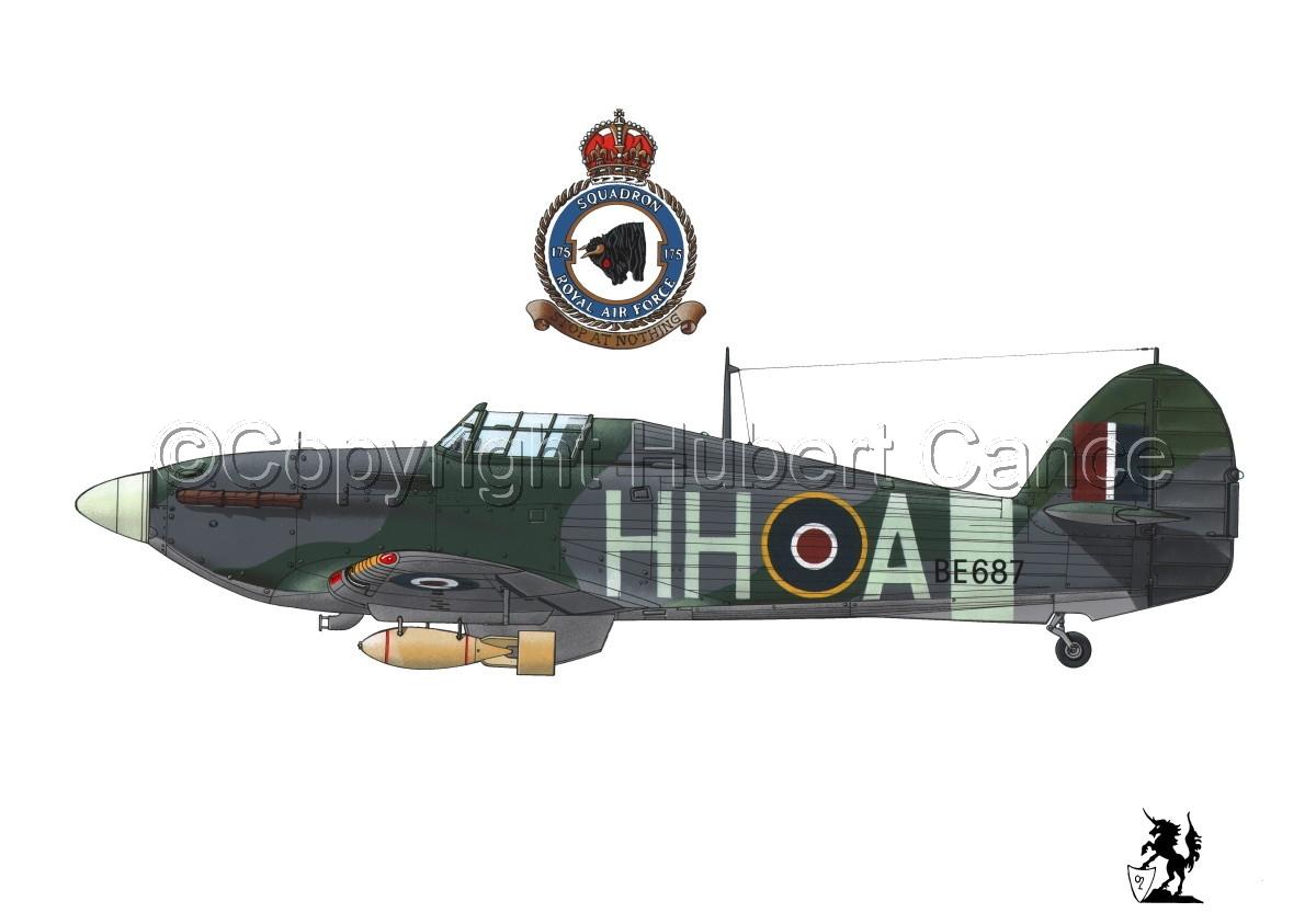 """Hawker """"Hurricane"""" Mk.IIb """"Hurribomber"""" #1.1 (large view)"""