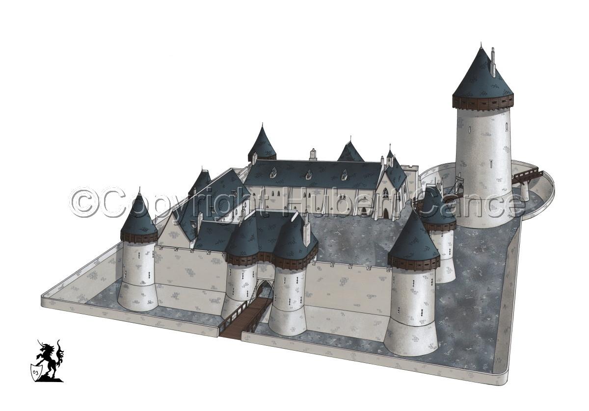 Chateau de Dourdan (large view)