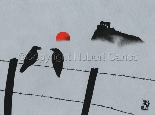 """Crows at Apchon Castle"" (large view)"